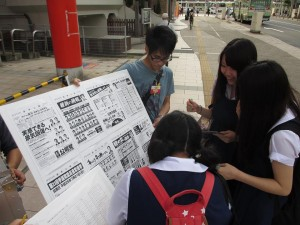 参院選街頭での未成年模擬選挙
