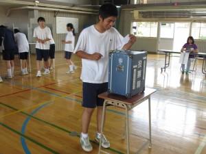北辰中学校での未成年模擬選挙