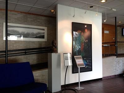 ノルウェー・クバム市役所の入り口