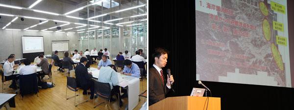 (写真)ダイアログ、2012年度の研修報告会