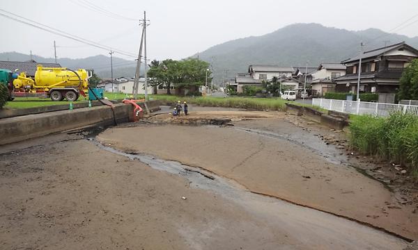 水路の土砂堆積
