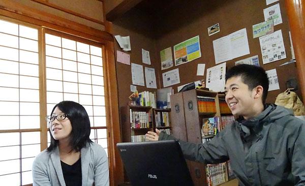 並河さんが運営する「Youth Library えんがわ」は古民家を活用した泊まれる私設図書館として地元の小中学生や海外からの旅行者が訪れる場となっている。