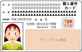 個人番号カード裏面イメージ
