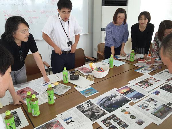 「長島大陸食べる通信」の打ち合わせの様子