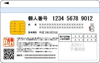 個人番号カード表面イメージ