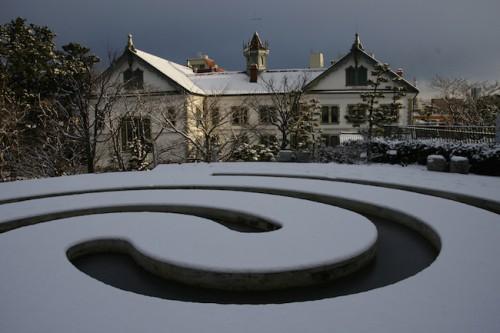 県政記念館雪景色