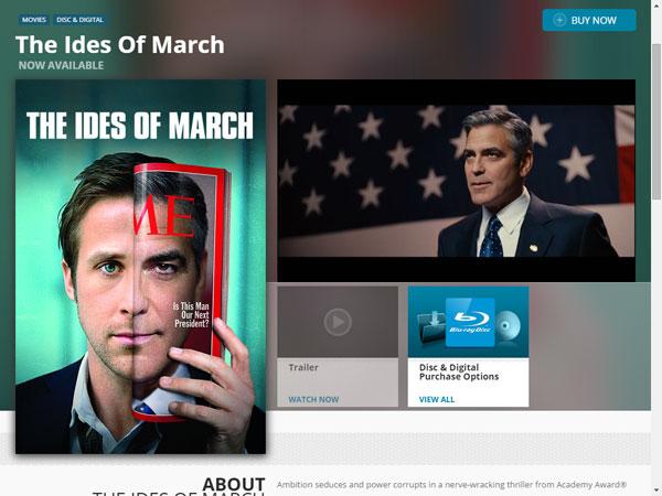2011年公開の映画「The Ides of March」