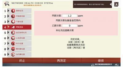ネットワークヘルスキオスク画面