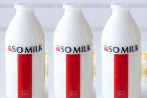 JAL、熊本地震の復興支援で「ASO MILK」をラウンジで提供