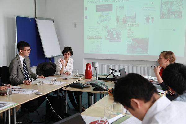 ドイツの連邦政治教育センターを訪問した筆者