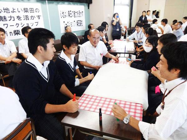 柴田町議会「高校生と議会懇談会」の様子