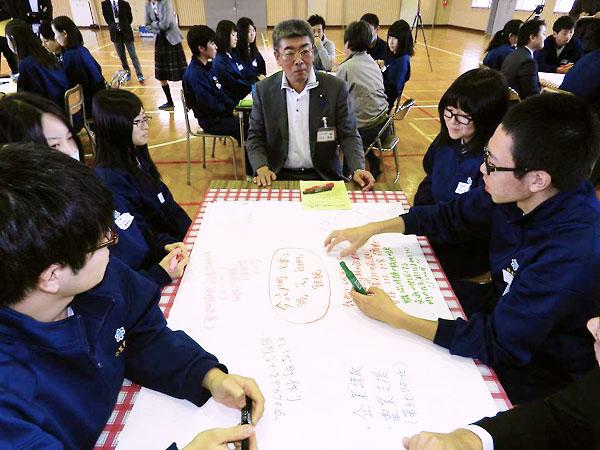 六戸町議会の高校生との意見交換会