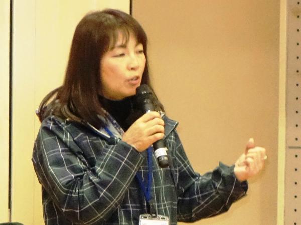 「遠慮なく意見を」と呼び掛ける別府市企画部危機管理課の村野淳子さん=12月12日