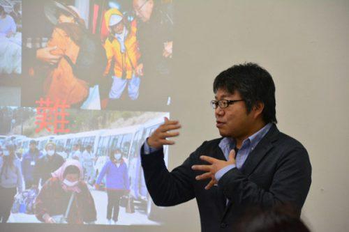 えこえね南相馬研究機構代表の高橋さん。「震災後の新しい地域経済の仕組みを自分たちの手でつくっていきたい」と語る。