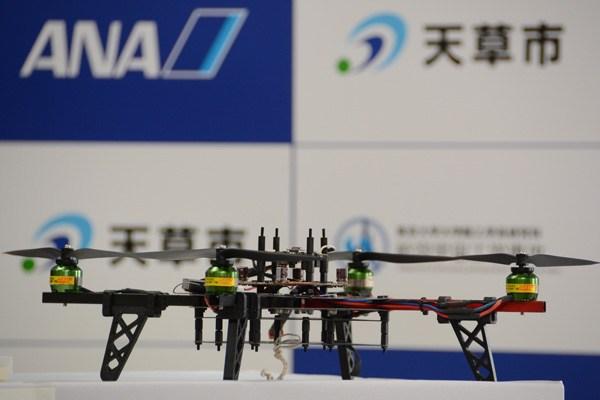 ANA総研と天草市、東京大学がドローン活用で協定4