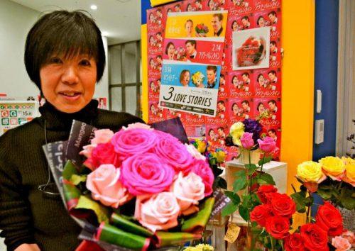 海外では定着、バレンタインデー「男性から女性へ花」 沖縄でも売り込み