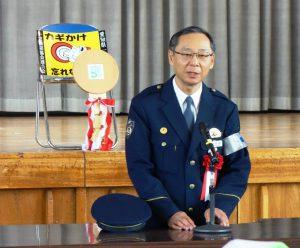 一宮市の犯罪事情を説明する愛知県警一宮警察署の寺倉利彦署長
