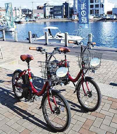 休日を中心に利用者が多いうらりの貸し自転車