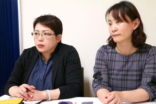 今川由紀子職員(左)と玉崎章子副センター長(右)