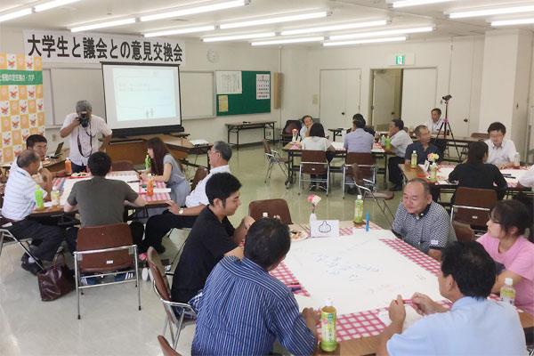 青森県六戸町議会:大学生と議員の対話の場