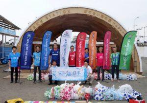 湘南に「釘のない海の家」、環境改善にJリーグ7チームと連携