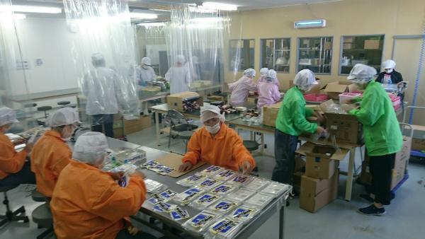 「ワークコーポとっとり」での作業風景=鳥取県障害者就労事業振興センター提供=