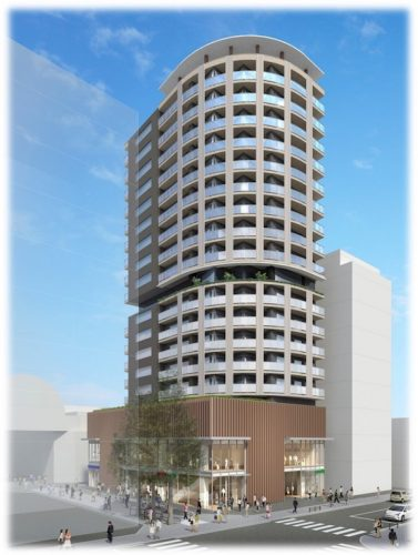 秋田駅前に建設予定のシニア向け高層ビル