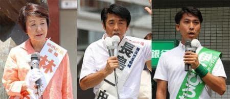 横浜市長選、舌戦スタート 現新3氏が第一声