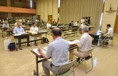 岡山市長選説明会に1陣営1団体