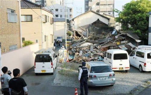被災空き家、強制撤去も 熊本市が安全対策方針