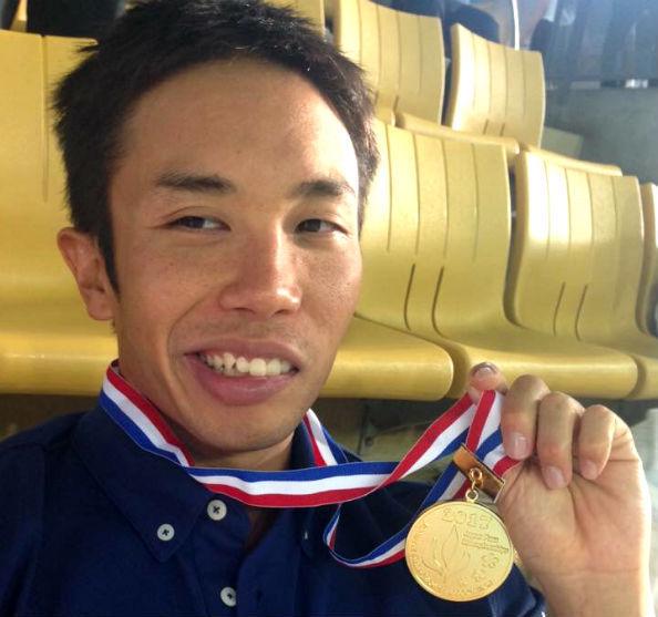 2017ジャパンパラ水泳競技大会の男子400メートル自由形(視覚障害S11)でアジア新記録を樹立した富田選手