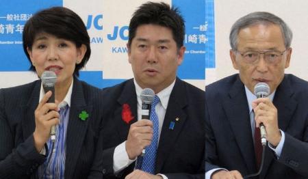 川崎市長選、現新3氏が立候補 現職への評価争点 投開票は22日