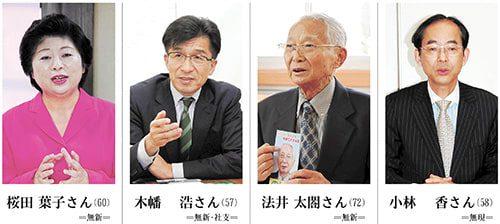 <福島市長選>候補者の横顔