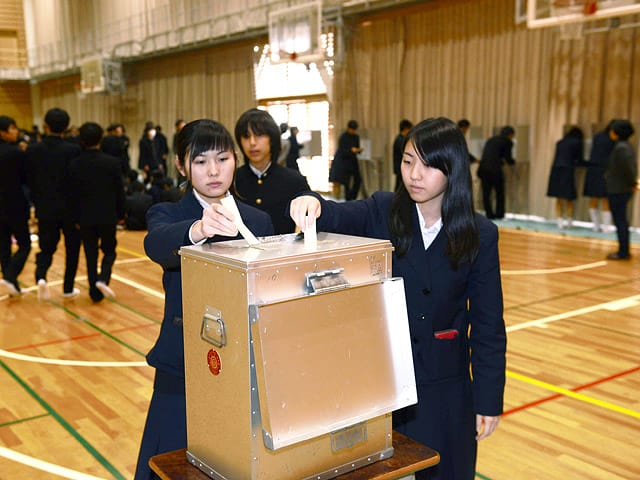 死刑是非、生徒が1票 岐阜高で模擬投票