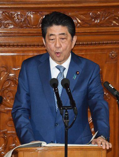 首相「憲法審で改正議論前進」 施政方針演説、働き方改革に決意