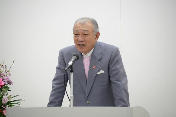 式辞を述べる笹川日本財団会長