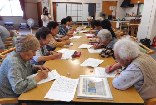 大槌町で行われている数独教室の様子(提供:ソーシャルハーツ)