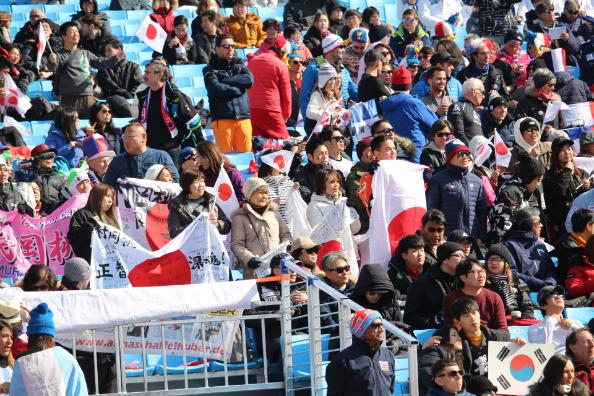 落胆する日本人観客