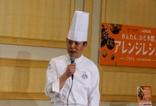 コンビニ総菜の使い勝手の良さを解説する大庭氏