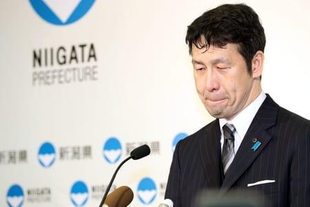 米山隆一知事が辞職表明 複数女性に金銭 「県政混乱」と謝罪