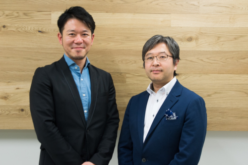 朝比奈一郎さん(右)と久保田 雅俊