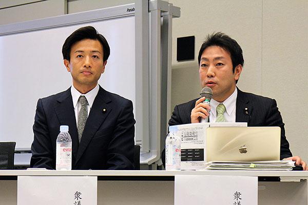 中谷氏(右)と鈴木隼人 衆議院議員