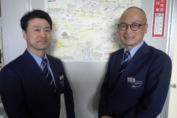 多摩少年院統括専門官の大門貴彦さん(左)と市田秀一さん
