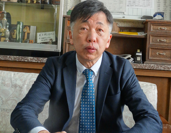 オリヒメの活用について語る上村一也校長