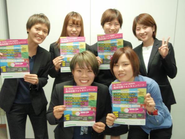 モーターボート選手会の女子6選手の投稿写真。(左上から)渡邉、田中、野田辺、森田、小野、池田の6選手