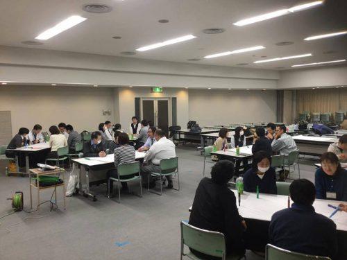 静岡県藤枝市の職員オフサイトミーテイングでのワールドカフェ