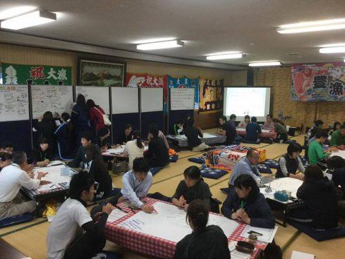 青森県むつ市の「ご近所知恵だし会議」でのワールドカフェ