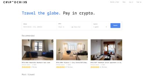 民泊仲介サイト「CryptoCribs」