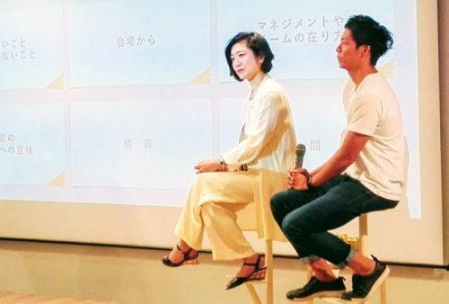 会社員としての歩みを振り返る小川氏(左)と新田氏
