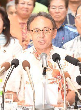 玉城氏が知事選出馬を正式表明 「翁長氏の遺志継ぐ」